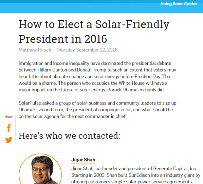 SolarPulse Presidential Post