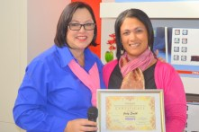 Joanne Brunette with Woman in Business finalist for May, Judy Smith from Recruitsmiths (Small)