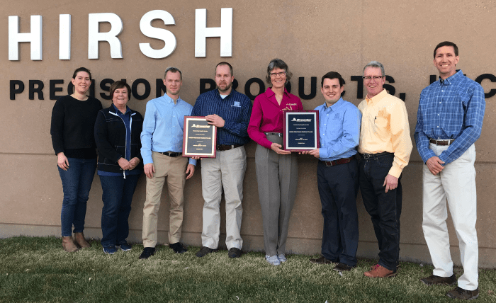 Hirsh Precision wins Annual Quality and Supplier of the Year award
