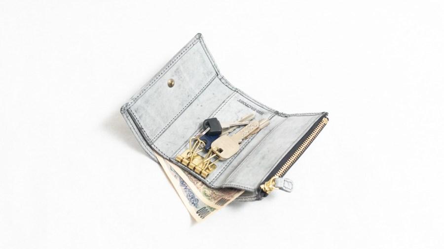 お札、小銭をコンパクトに収められる仕組み