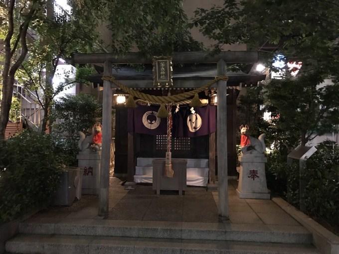 茶ノ木神社夜
