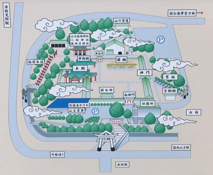 日枝神社境内図