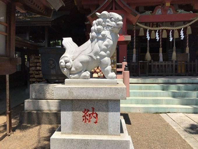 前川神社狛犬左