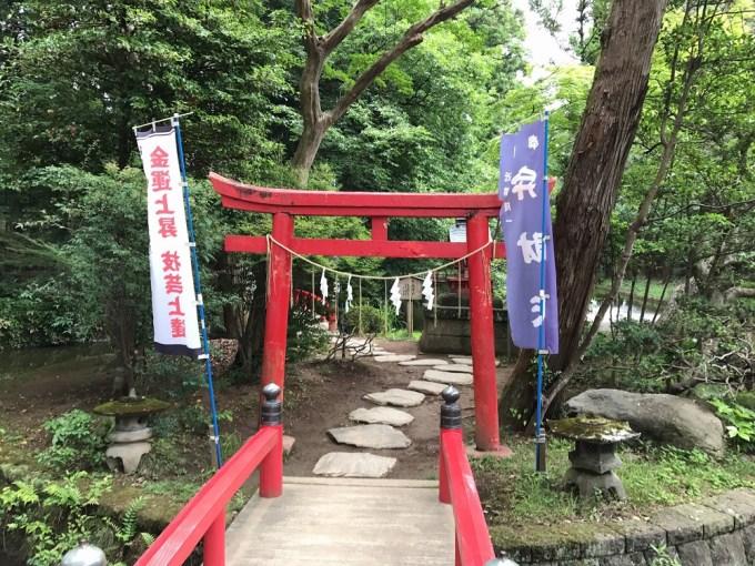 間々田八幡宮厳島神社鳥居