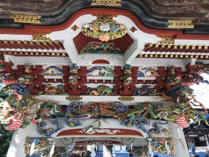 三峯神社手水舎天井