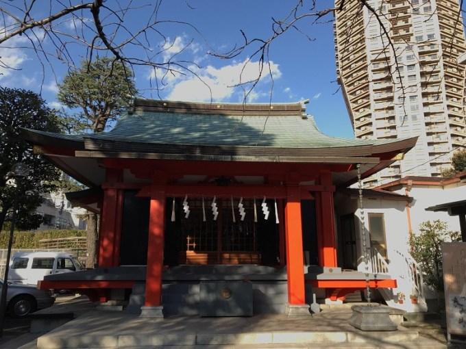 麻布氷川神社拝殿