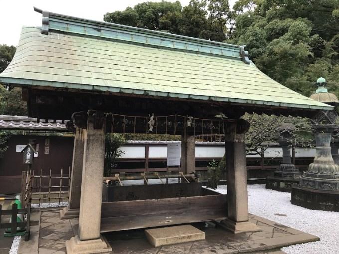 上野東照宮手水舎左