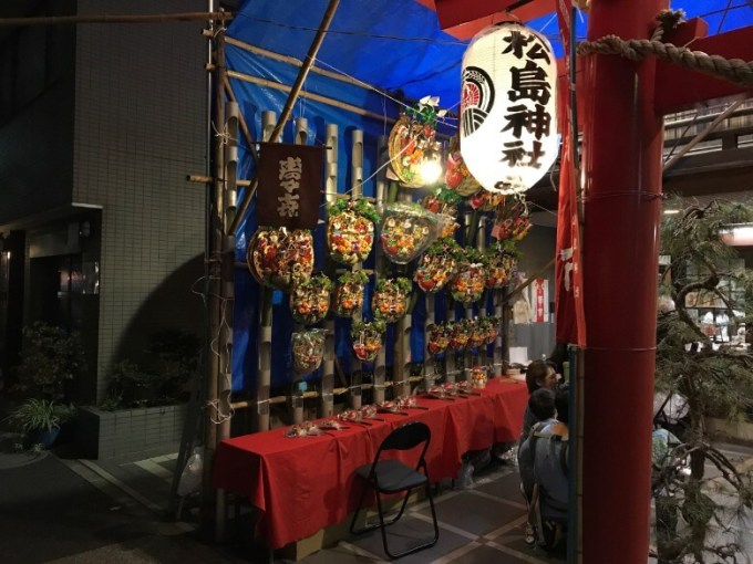 松島神社夜熊手