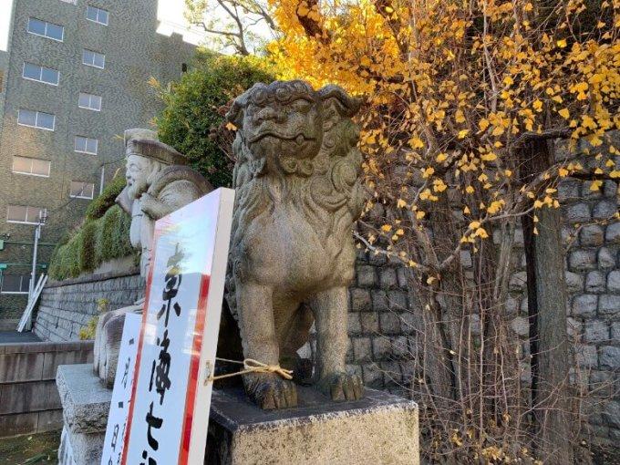 品川神社狛犬1左