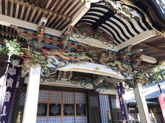 宝登山神社社殿の彫刻