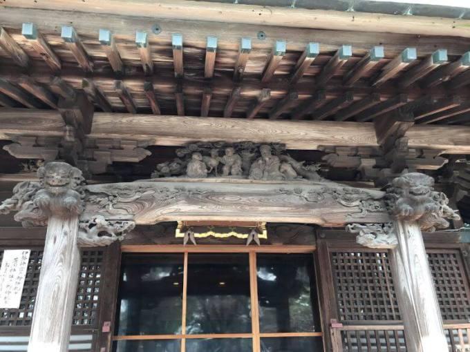 芳川神社拝殿彫刻