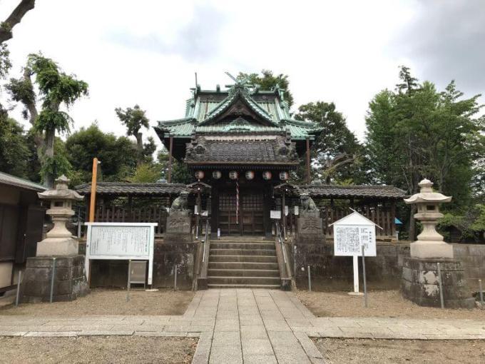 下総野田愛宕神社拝殿
