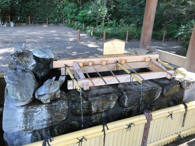 櫻木神社手水石