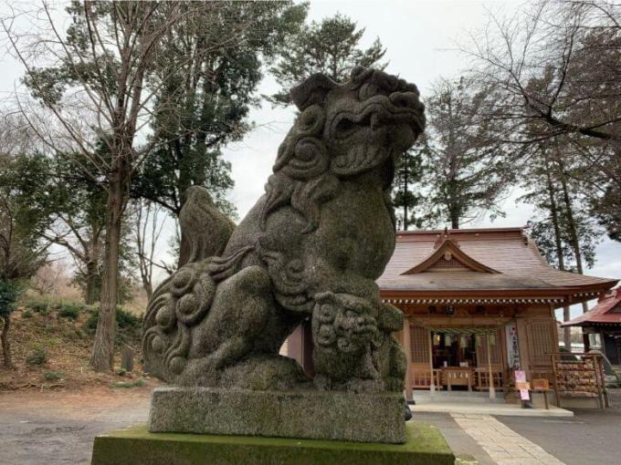 糀谷八幡神社狛犬左