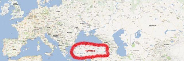 turkey world map