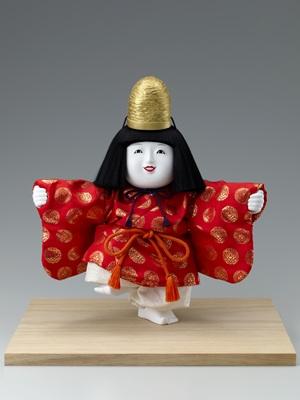 十二世久重作 木彫御所人形「福の神」