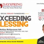 Special February Thanksgiving - Exceeding Blessing