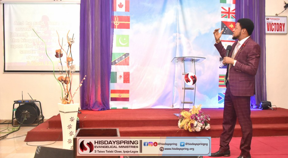 Pastor Blessing Olamijulo preaching on OUR WEAPON OF VICTORY