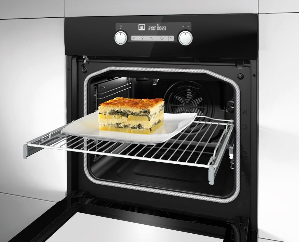 Hisense Built-in Multifunction Oven BSA5221ABUK with Even Bake & Steam Add, 71 litre, Digital Display, Black Colour