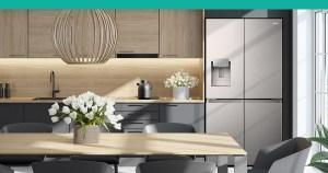 Hisense Fridge in Kitchen