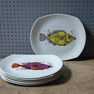 Aquarius fish plate set