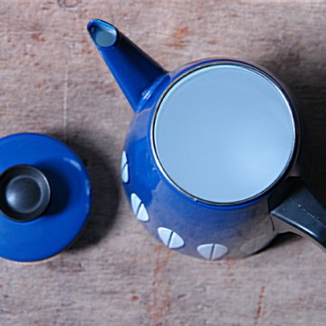 Blue Cathrineholm coffee pot | H is for Home