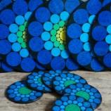 blue circles placemat set