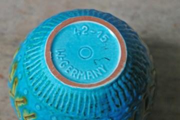 Blue vintage West German vase | H is for Home