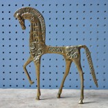 Vintage brass horse figure