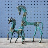 vintage brass horse figures