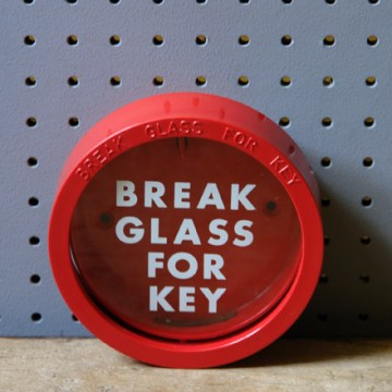 Emergency break glass for key | H is for Home