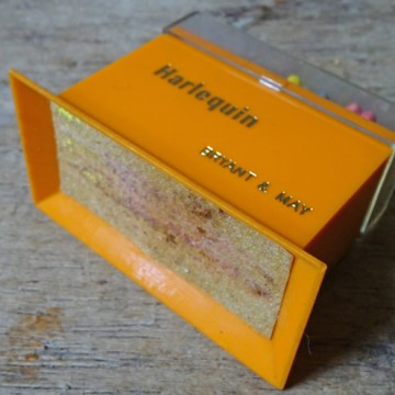 Vintage Bryant & May Harlequin match box with matches | H is for Home