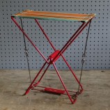 vintage striped camping stool