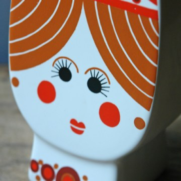 Vintage Carltonware princess money box   H is for Home