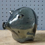 Vintage Cascade glass piggy bank