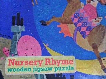 Hey diddle diddle nursery rhyme jigsaw puzzle