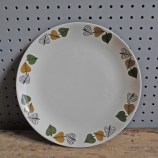 Crown Clarence leaf design plate