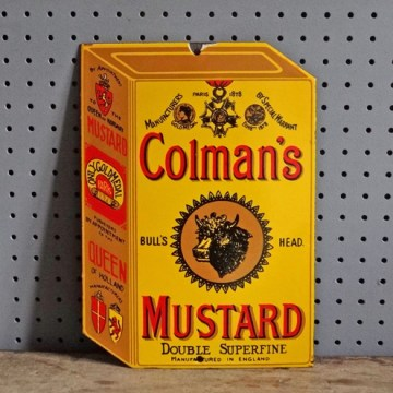 Vintage Colman's Mustard enamel sign