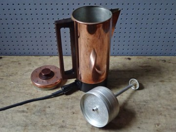 Vintage copper coffee percolator | H is for Home