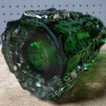 Green vintage Whitefriars bark vase | H is for Home
