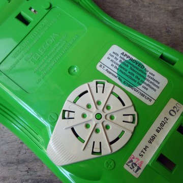 Green vintage Viscount telephone | H is for Home
