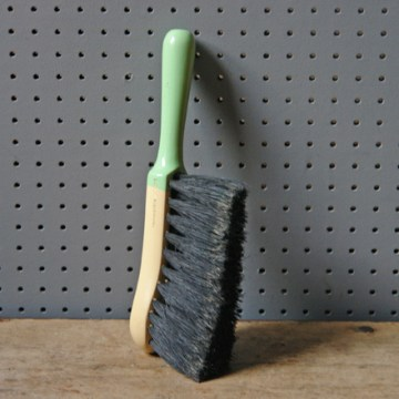 Green and white vintage Invincible brush | H is for Home