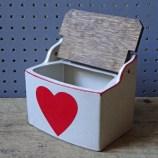 Vintage pottery heart salt pig   H is for Home