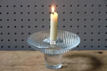 Vintage Holmegaard clear glass candle holder | H is for Home