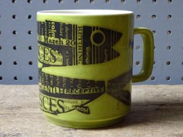 Vintage Hornsea Pisces mug | H is for Home