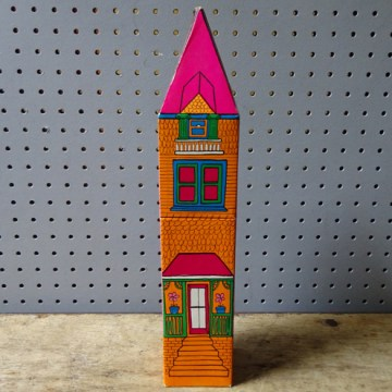 Vintage house long match box | H is for Home