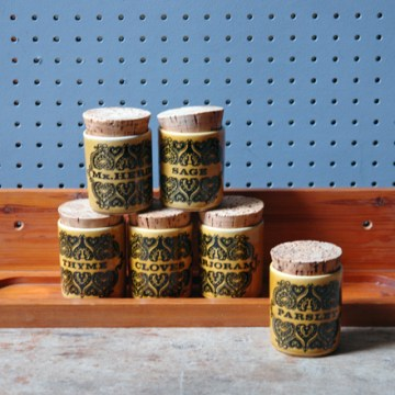 Vintage Hutcheson spice set with rack | H is for Home