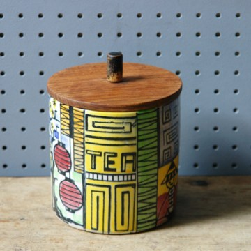 Vintage Jie Gantofta tea jar | H is for Home