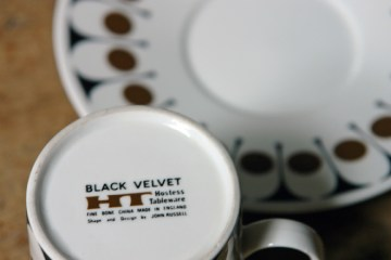 John Russell Black Velvet tea trio | H is for Home