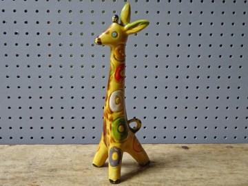 Vintage Lomonsov pottery giraffe   H is for Home